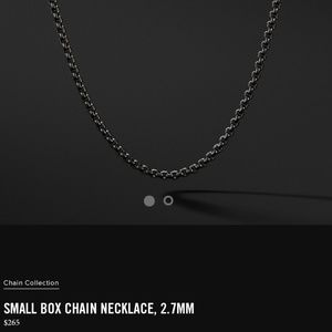 David Yurman Box Chain Necklace